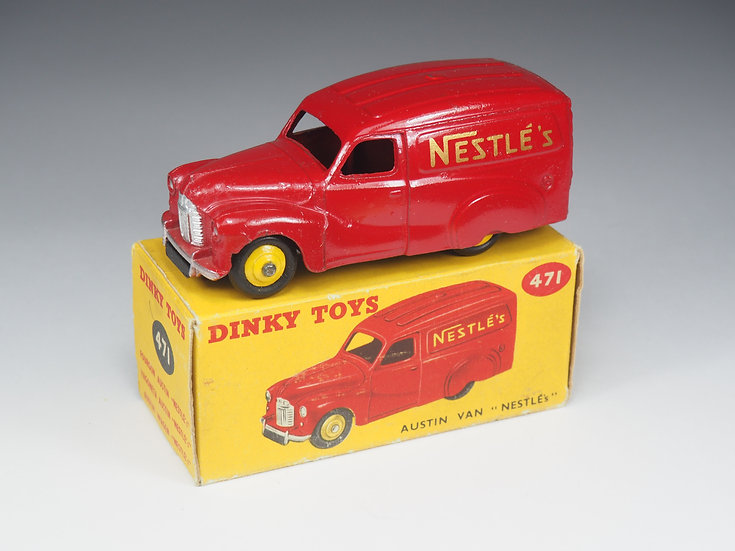 "DINKY TOYS ENGLAND - 471 - AUSTIN ""NESTLE'S"" VAN - 1/43e"