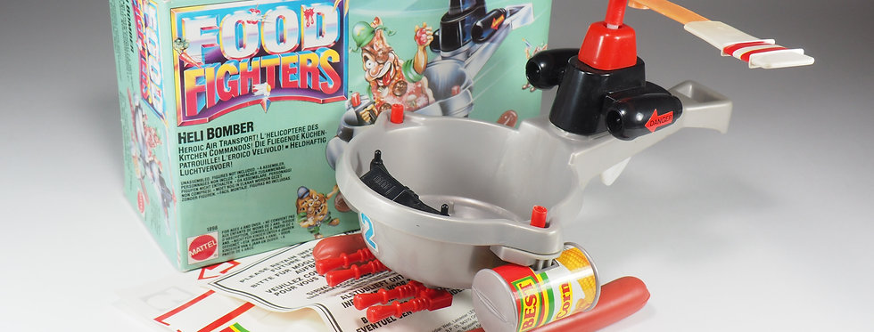 MATTEL - FOOD FIGHTERS - HELI BOMBER ( FRY CHOPPER ) - ITALY