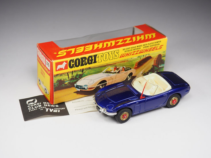 CORGI - 375 - TOYOTA 2000 GT - RED DOT WHEELS - 1/43e