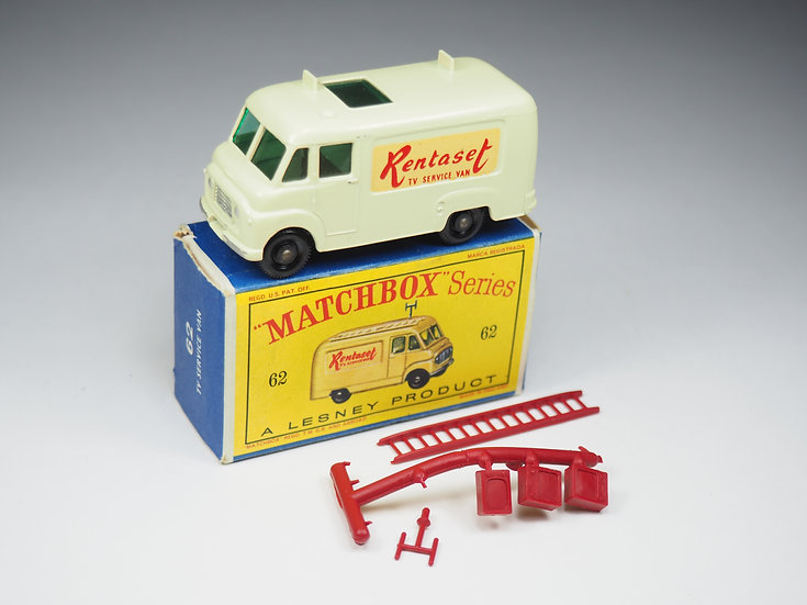 "MATCHBOX - 62b - COMMER ""RENTASET"" TV SERVICE VAN"