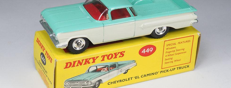DINKY TOYS - 449 - CHEVROLET «EL CAMINO» PICK-UP - 1/43e