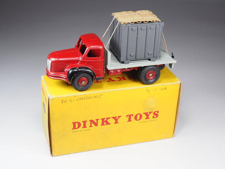 DINKY TOYS FRANCE - 34B - PLATEAU BERLIET AVEC CONTENEUR