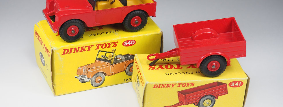 DINKY TOYS - 340 & 341 - LAND ROVER AND TRAILER - 1/43e