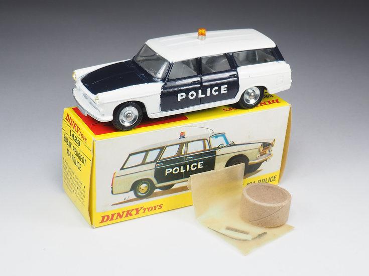 DINKY TOYS  FRANCE - 1429 - PEUGEOT BREAK 404 POLICE