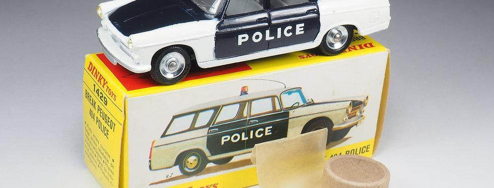 DINKY TOYS  FRANCE - 1429 - PEUGEOT BREAK 404 POLICE