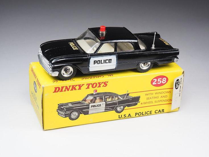 DINKY TOYS ENGLAND - 258 - USA POLICE CAR - FORD FAIRLANE