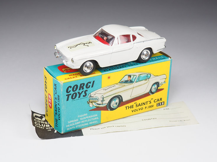 "CORGI - 258 - VOLVO P1800 THE ""SAINT'S"" CAR - 1/43e"