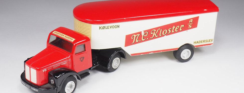 "TEKNO - 448 - SCANIA WITH ""KLOSTER"" TRAILER - 1/43e"