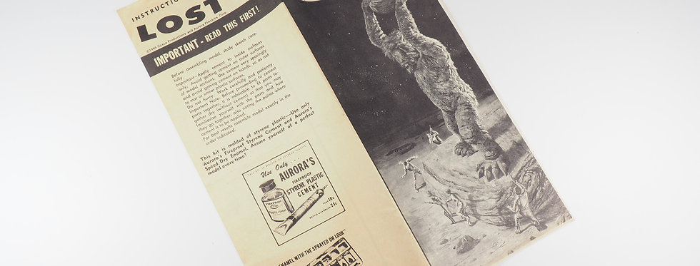 AURORA KITS - 419 - 1966 - LOST IN SPACE - NOTICE