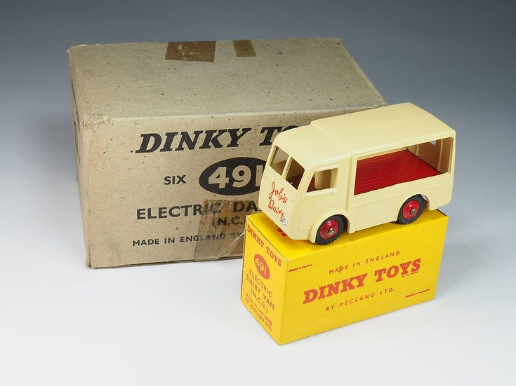 """DINKY TOYS - 30V / 491 - ELECTRIC DAIRY VAN """"JOB'S DAIRY"""" PROMOTIONNAL ISSUE"""