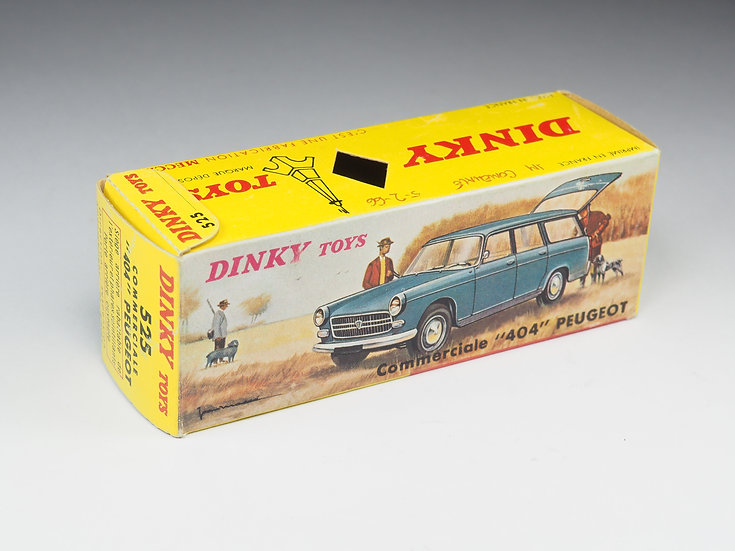 DINKY TOYS - BOX ONLY - 525 - PEUGEOT 404 COMMERCIALE