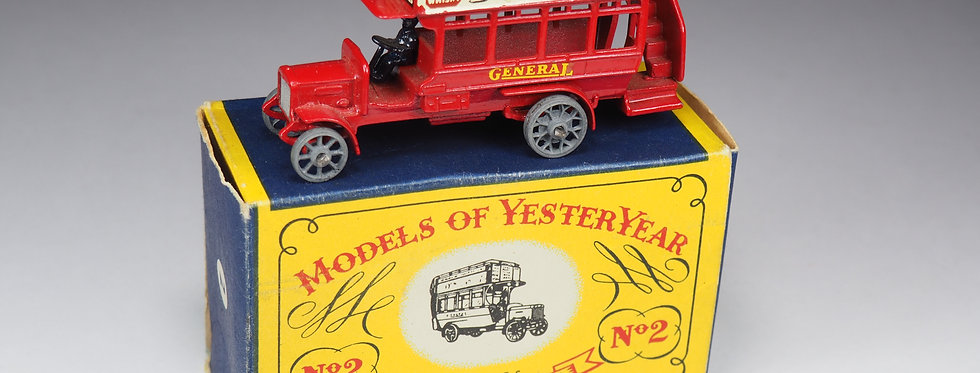 MATCHBOX - MODELS OF YESTERYEAR - 2 - « B » TYPE LONDON BUS