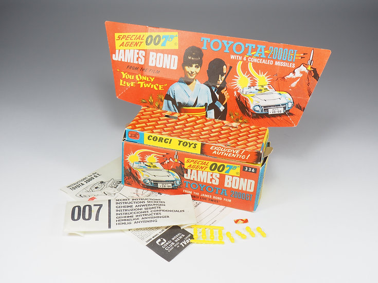 CORGI TOYS - 336 - TOYOTA 2000 GT JAMES BOND - BOX ONLY