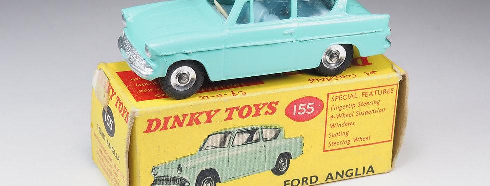 DINKY TOYS ENGLAND - 155 - FORD ANGLIA - PALE BLUE INTERIOR