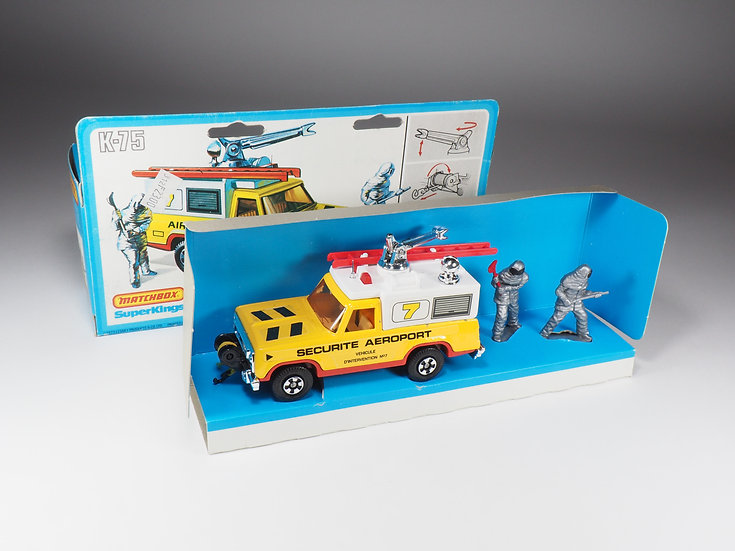 MATCHBOX - K75 - AIRPORT FIRE TENDER - FRENCH VARIATION