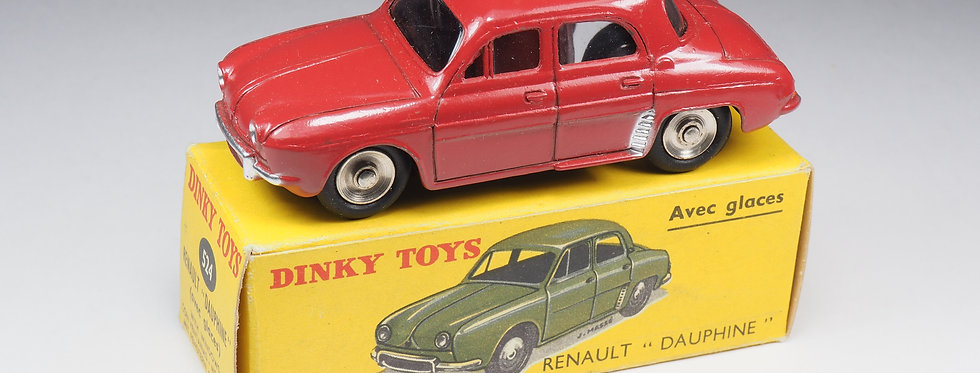 DINKY TOYS FRANCE - 524 - RENAULT DAUPHINE - JANTES CONCAVES
