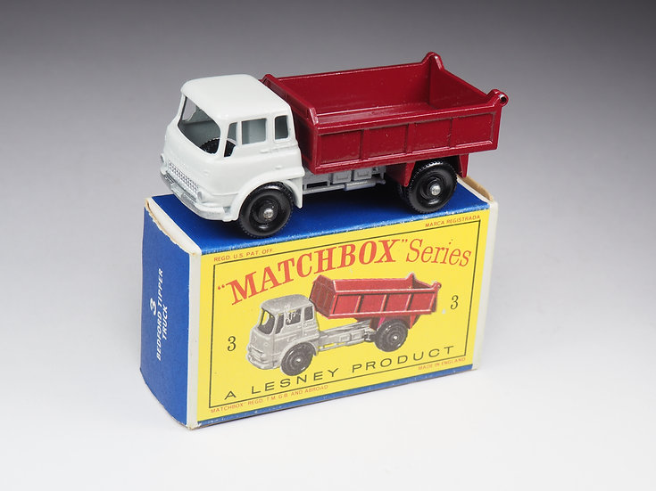 MATCHBOX - 3 - BEDFORD TIPPER TRUCK