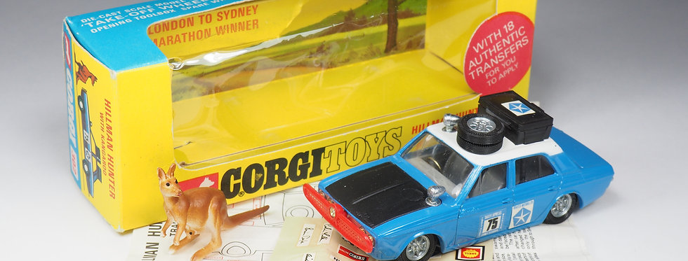 "CORGI - 302 - HILLMAN HUNTER ""LONDON TO SYDNEY"" RALLY - 1/43e"