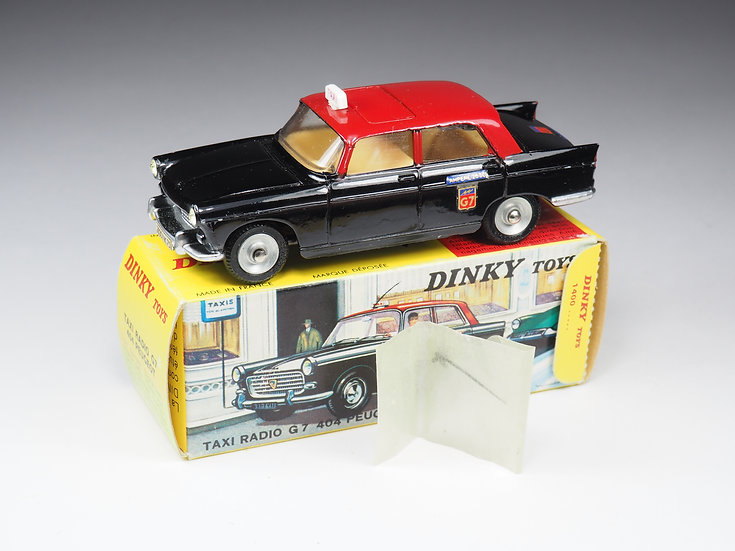 DINKY TOYS FRANCE - 1400 - TAXI RADIO G7 404 PEUGEOT