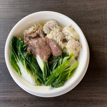 Beef and Green Wonton Soup
