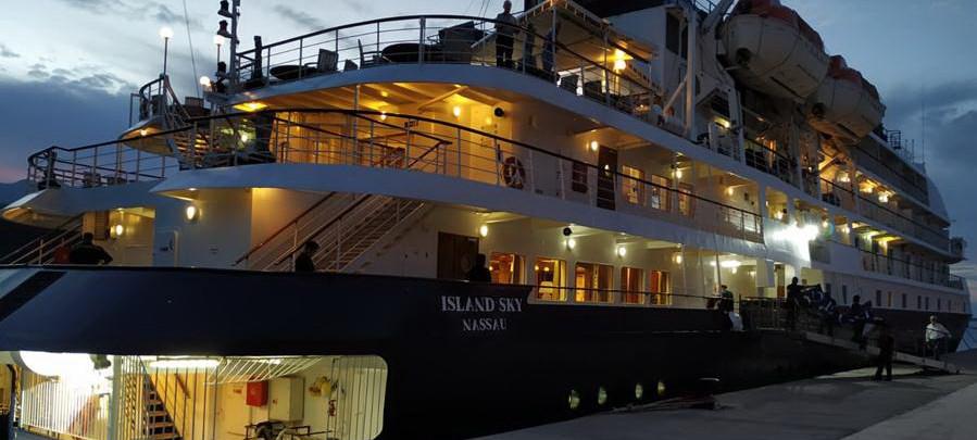 Tazacorte se estrena en la escala de cruceros 16 años después de inaugurado el puerto