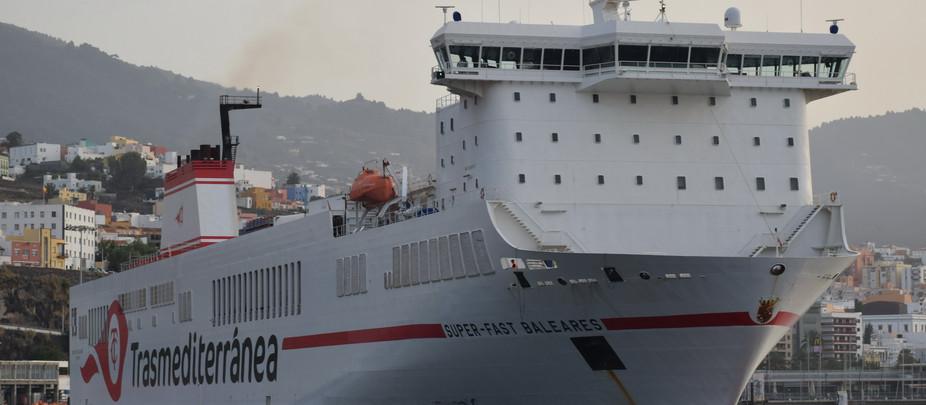 El SUPER-FAST BALEARES vuelve a La Palma tres años y medio después