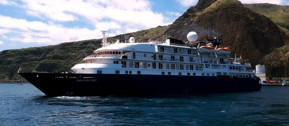 El crucero 'Ms Island Sky' estrena este jueves la dársena comercial del Puerto de Tazacorte inaugura