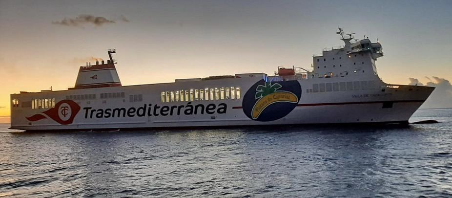 VILLA DE TAZACORTE un guiño de Armas Trasmediterránea a La Palma