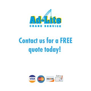 Ad-Lite Crane Services is a full service crane company in the San Francisco Bay Area