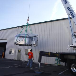 Crane Lifting Heavy Machinery