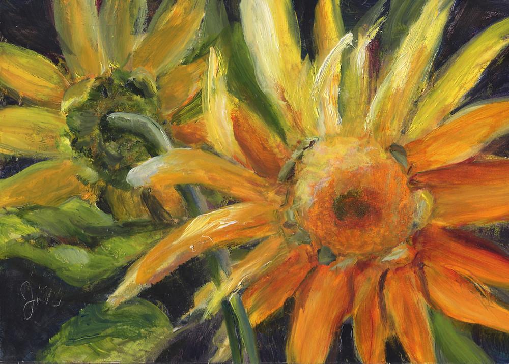 sunflower painting by artist Julkia Watson