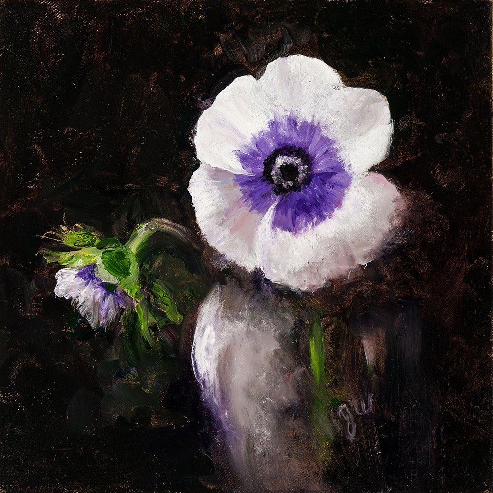 painting of an anemone