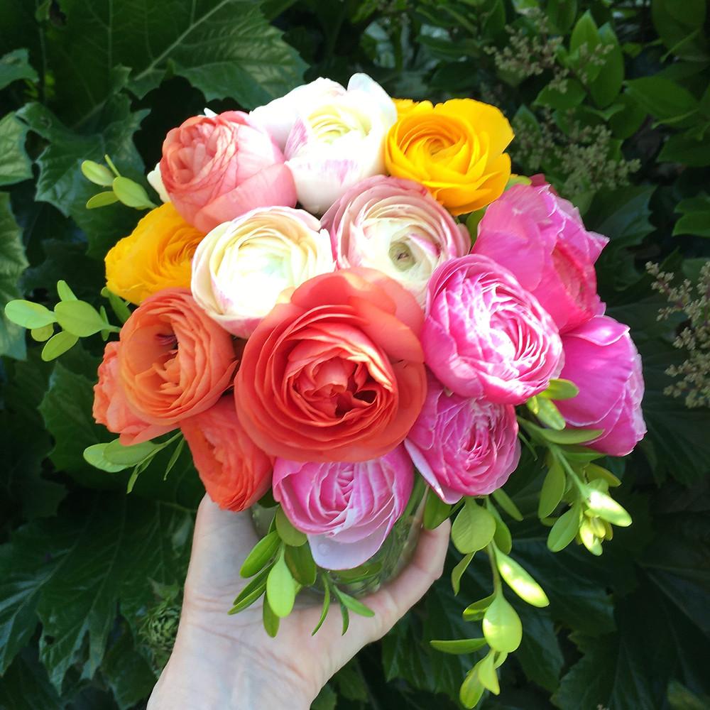 Flower bouquet of ranunculus