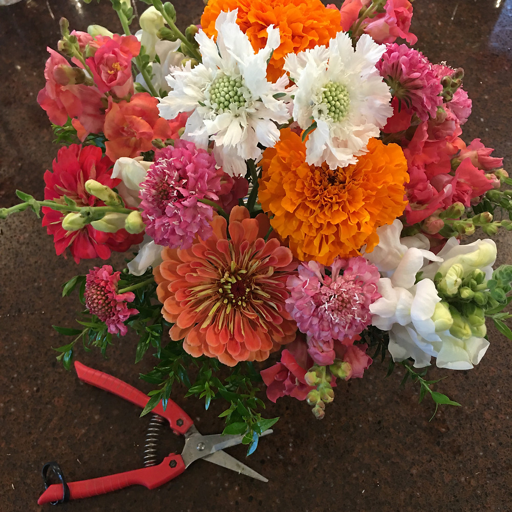 bouquet with marigolds