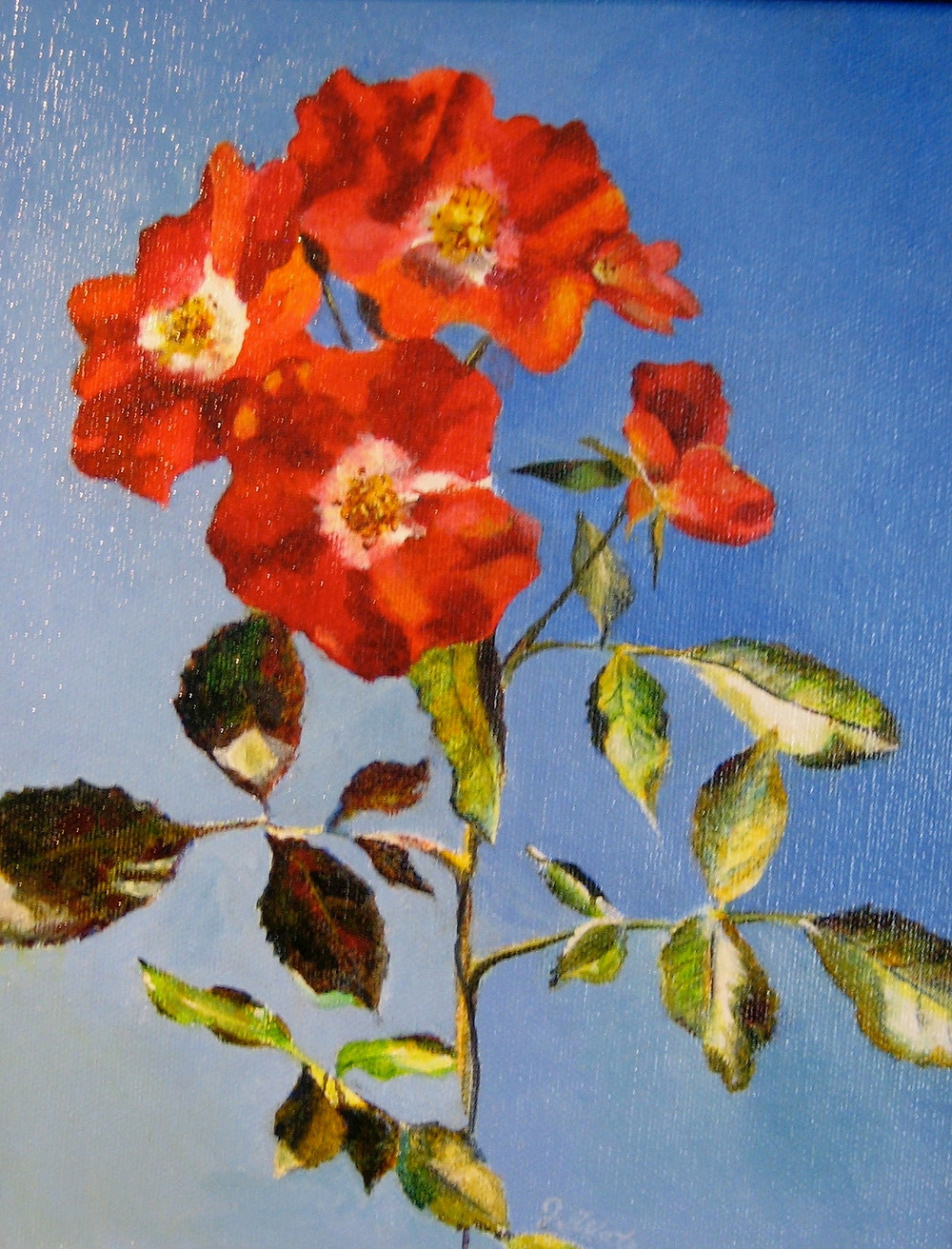 painting of wild roses