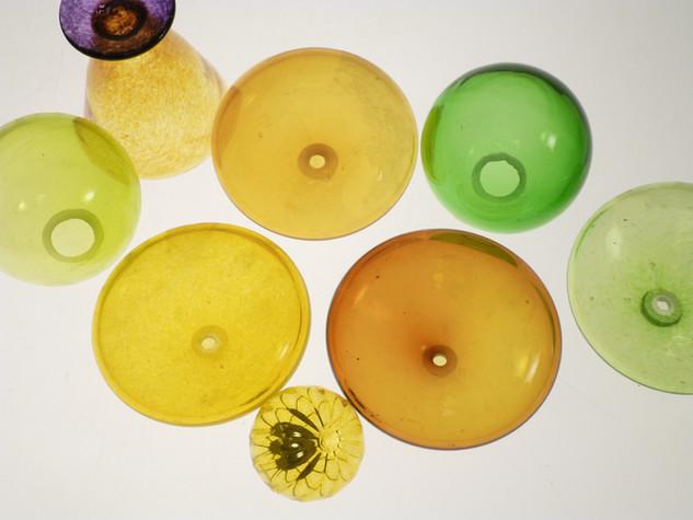 Composition jaune et verte