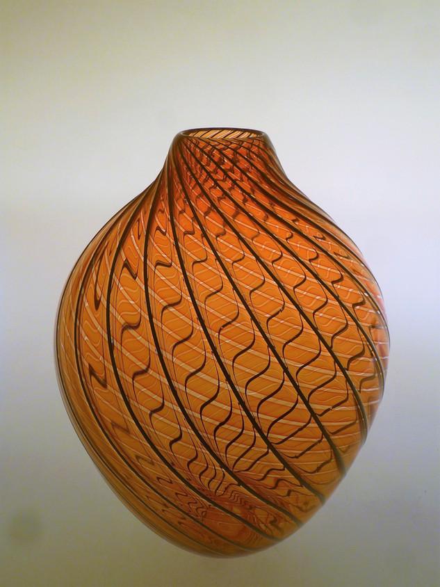 Vase filigrane rouge