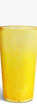 Verre évasé jaune