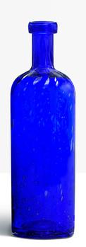 Grande bouteille bleu cobalt