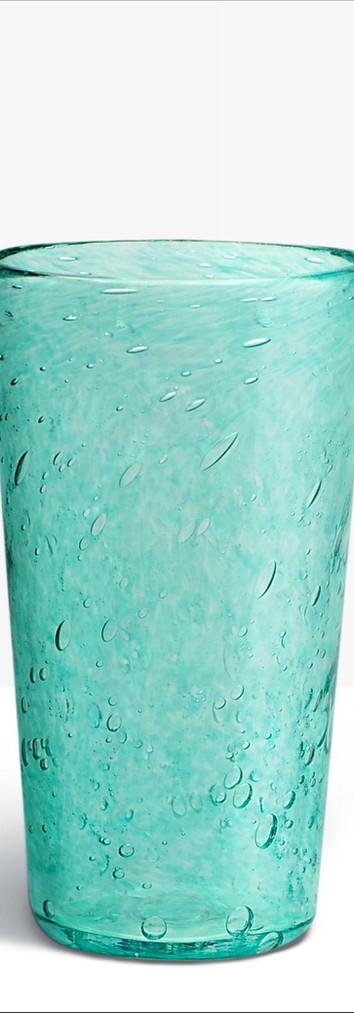 Verre évasé bleu vert