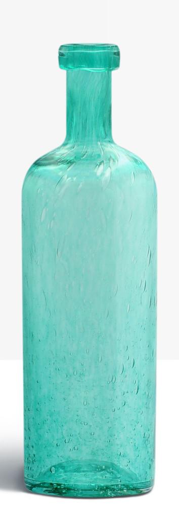 Grande bouteille bleu vert