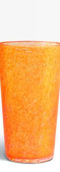Verre évasé orange