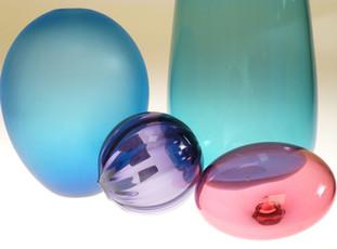 Composition rose et bleue
