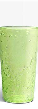 Verre évasé vert