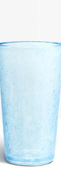 Verre évasé bleu clair