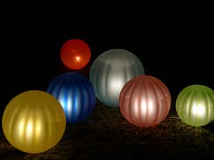 Lampes multicolores
