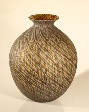 Vase filigrane marron