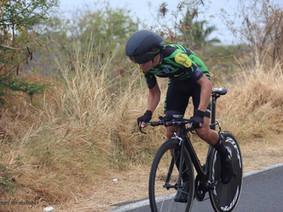 Doriand champion de la Réunion de contre la montre individuel. 45km/h de moyenne