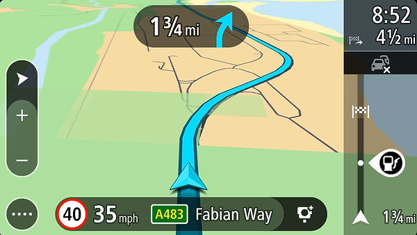 Screen Shot of Sat Nav