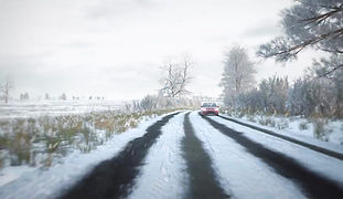 DVLA SNOW hazard perception clip